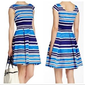 Kate Spade Blue Striped Mariella Dress Size 8